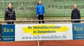 FC Dossenheim RICH Immobilien Werbung Bande